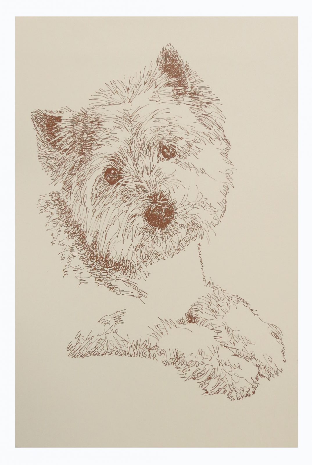 West Highland Terrier Custom Dog Lover Gift for Pet Portrait  for a Westie